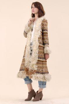 Saks Fifth Avenue Bohemian Shearling Coat