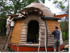 Earthbag Beehive House
