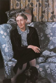 """Virginia Woolf and her dog Pinka. """"This you'll call sentimental — perhaps — but then a dog somehow represents — no I can't think of the word — the private side of life — the play side."""" Photo by Gisele Freund. Virginia Woolf, Virginia Beach, Writers And Poets, Vanessa Bell, Bloomsbury Group, Female Art, Cute Pictures, Illustration, Drawing"""