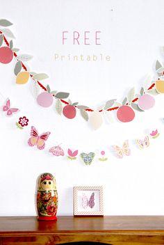 Free Printable Banner, Printable Paper, Printable Butterfly, Printable Birthday Banner, Printable Templates, Diy Paper, Paper Crafts, Diy Crafts, Party Printables