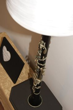 Clarinet Lamp made with Vintage Strasser Clarinet by mucycled, $95.00