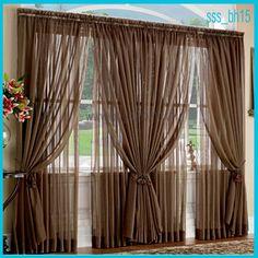 Sheer Curtains | living_room_sheer_semi_sheer_curtain_brown_sssbh15