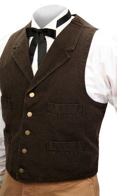 Four-Pocket Canvas Vest - Walnut for my future husband someday