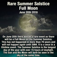 Rare Summer Solstice Full Moon June 20 2016 space days moon events full moon interesting facts did you know good to know