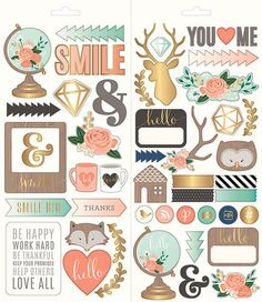 Pebbles - DIY Home Collection - Cardstock Stickers with Foil Accents