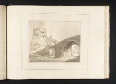 Joseph Mallord William Turner, Thomas Girtin 'The Ponte Molle',    ---    From Album of Copies of Italian Views for Dr Thomas Monro   --   c.1794–8  -  Ink wash and watercolour on paper -  Collection -  Tate