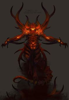 View an image titled 'Diablo Concept Art' in our Diablo III art gallery featuring official character designs, concept art, and promo pictures. Fantasy Concept Art, Dark Fantasy, Fantasy Art, My Demons, Angels And Demons, Twilight Princess, Fantasy Creatures, Mythical Creatures, Character Art