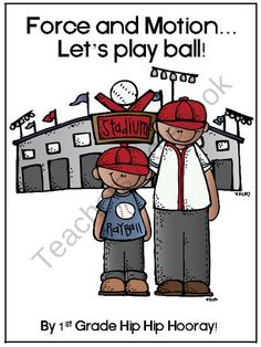 """Learning about """"force and motion"""" can be fun with this baseball theme. The packet includes a craft where the kiddos make baseball players. A grea. Sports Theme Classroom, Science Classroom, Teaching Science, Science For Kids, Science Activities, Classroom Activities, Teaching Kids, Science Ideas, Baseball Activities"""