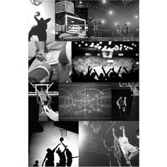 PB Teen Basketball Collage Wall Mural at Pottery Barn Teen - Wall... ($99) ❤ liked on Polyvore featuring home, home decor, wall art, canvas home decor, sports murals, sports wall art, canvas wall art and pbteen
