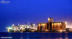 Port Sudan harbour at night, Red Sea State  ميناء بورتسودان ليلاً، ولاية البحر الأحمر #السودان   (By Mohamed Alatta)   #sudan #portsudan #night #harbor #harbour #ships