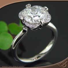 unique take on the solitaire ring  Design at Green Lake Jewelry Works