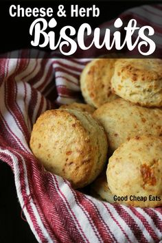 Cheese and Herb Biscuits | Good Cheap Eats - Easy and elegant breads can make a party out of a ho-hum night. Enliven your supper time with these deliciously simple Cheese and Herb Biscuits