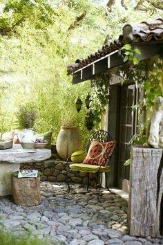 ☮ American Hippie Bohéme Boho Lifestyle ☮ Garden Porch