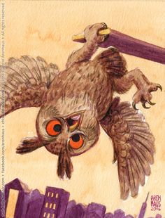 Rule An owl shall be drawn/painted/created every day. Rule The owl shall be made quickly and without planning beforehand. Funny Owls, Halloween Owl, Paper Owls, Owl Cartoon, Owl Pictures, Beautiful Owl, Wise Owl, Animal Sketches, Baby Owls