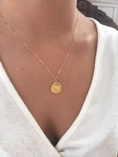 Mom Quotes From Daughter Discover Mothers Day Gift Inspirational Jewelry Gold Coin necklace Lotus Necklace Lotus Flower Jewelry Dainty Gold Necklace Gold Necklace gift Gold Circle Necklace, Lotus Necklace, Dainty Gold Necklace, Dainty Jewelry, Gold Jewelry, Jewellery, Flower Jewelry, Gold Coins, Minimalist Jewelry