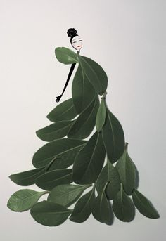"""byjsc: Inspired by Tang Chiew Ling's beautiful """"Fashion in Leaf"""" idea so I"""