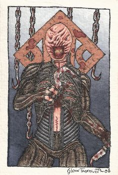 Chatterer from the Hellraiser franchise, I'm a huge fan of everything Clive Barker makes (art, movies, literature). And Chatterer is certainly one of my favorite characters for some reason.