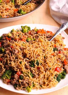Beef Ramen Noodles Stir Fry is a healthy way to use instant ramen! ramennoodles stirfry beef broccoli is part of Healthy ramen noodles - Healthy Ramen Noodles, Beef Ramen Noodle Recipes, Stir Fry Ramen Noodles, Top Ramen Recipes, Ramin Noodle Recipes, Chinese Noodle Recipes, Ramen Noodle Salad, Healthy Pasta Dishes, Stir Fry Rice