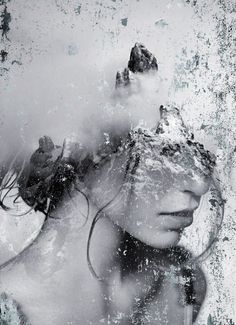 ART: Dreamy Portrait Series by Antonio Mora Spanish-based artist Antonio Mora, also known as mylovt, uses the web to craft his surreal works. He looks through online databases and finds images that he. Double Exposure Photography, Art Photography, Photocollage, Animation, Gif Animé, Jolie Photo, Affordable Art, Antonio Mora, Dark Art