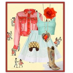 """Janina loves to Square Dance!"" by julie-price-thiede on Polyvore"