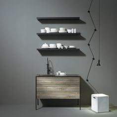 """The collection, which includes the wood-patterned Pattina, is designed to """"create wonder, even in a small living space"""""""