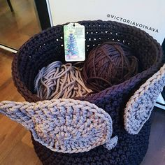 Toy basket crochet toy basket toy storage basket kids room basket owl basket basket weaving crochet basket knitted box storage box toy basket crochet box mothers day gift easter gift baskets this knitted basket will be negle Gallery