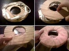 Como hacer pompones de tul 3