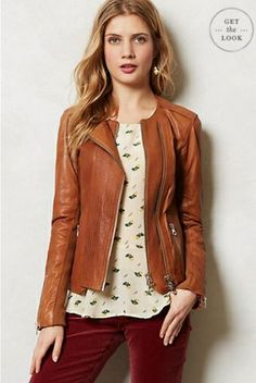 ANTHROPOLOGIE//Leather Jacket