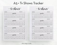 Tv Shows TV Show Tracker Planner Inserts Tv Tracker Tv Show Manager Tv Shows Organizer Printable Planner Insert Tv Series Bullet Journal For Kids, Bullet Journal Tracking, Bullet Journal Notebook, Bullet Journals, Planner Inserts, Planner Pages, Printable Planner, Organizer Planner, Tracker Free
