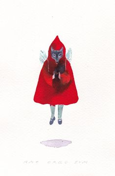 Little Red Riding Hood and Other Wolfish Things Little Red Ridding Hood, Red Riding Hood, Propaganda Techniques, Big Bad Wolf, Big Eyes, World War Two, Horror, Illustration Art, Vibrant