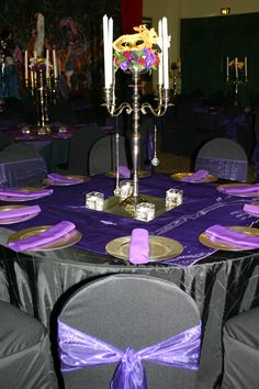 Purple Silver And Black Masquerade Themed Holiday Party