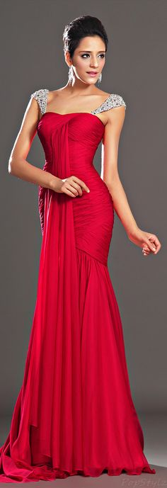 Stunning Red Evening Dress... Perfect for the USMC Birthday Ball