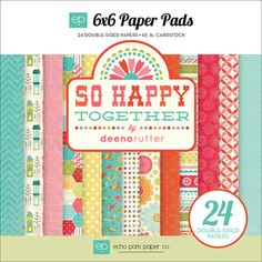 @Overstock.com - ECHO PARK PAPER-So Happy Together Collection. This package contains one 6x6 inch paper pad with twenty-four sheets of double-sided cardstock (two each of twelve designs). Acid and lignin free. Made in USA.http://www.overstock.com/Crafts-Sewing/So-Happy-Together-Double-Sided-Cardstock-Pad-6-X6-24-Sheets/7148483/product.html?CID=214117 EUR              9.13