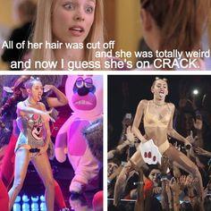 Hahahaha, Mean Girls meets Miley Cyrus