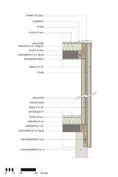 En Detalle: Cortes Constructivos / Estructuras de Madera,Lodge La Baita / Gubbins Arquitectos, Polidura + Talhouk Arquitectos