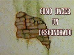 DIY PARED DE PIEDRA CON DESCONCHADO - CHIPPED THE WALLS OF HOUSES IN CRI...