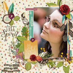 credits: Beautiful Spirit by Kristin Cronin-Barrow & Studio Flergs Layout Inspiration, Free Spirit, How To Find Out, Layouts, Scrapbook, My Favorite Things, Studio, Gallery, Beautiful