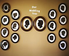 "Wedding Reception Idea - A Silhouette ""Wedding Tree"" Wall Display"