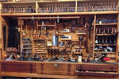 The Fine Art of Nesting - Robert Howard - Brisbane Woodworker - Classes in Furniture, Woodworking and Woodcarving Woodworking Tool Cabinet, Antique Woodworking Tools, Woodworking Shop Layout, Antique Tools, Old Tools, Woodworking Plans, Woodworking Projects, Tool Storage Cabinets, Garage Tool Storage