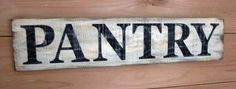 Pantry Sign - Wood Hand Painted Pantry Sign - inches x inches - Rustic Pantry Sign - Farmhouse Style Pantry Sign Pantry Sign - Large Wood Hand Painted Pantry Sign - Rustic Pantry Sign - Farmhouse Style Pantry Sign by FarmhouseHomeDecor on Etsy, Farmhouse Desk, Rustic Farmhouse, Farmhouse Style, Farmhouse Windows, Farmhouse Plans, Kitchen Signs, Kitchen Pantry, Kitchen Redo, Kitchen Backsplash