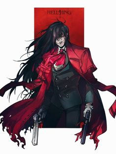 Anime Demon, Manga Anime, Anime Art, Abraham Van Helsing, Witchy Wallpaper, Character Art, Character Design, Hellsing Alucard, Vampire Hunter D