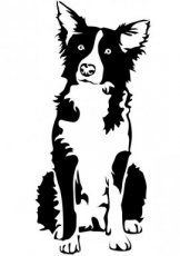 Bearded Collie clipart silhouette - pin to your gallery. Explore what was found for the bearded collie clipart silhouette Dog Stencil, Animal Stencil, Stencil Art, Stencils, Silhouette Chat, Machine Silhouette Portrait, Silhouette Tattoos, Animal Silhouette, Perros Border Collie