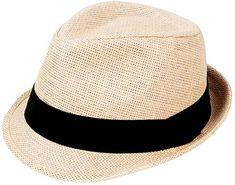 New AshopZ Unisex Summer Outdoors Short Brim Straw Fedora Hat.   14.99 -  16.99  721e592821d3