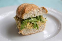 My vegan version of Chuck's Curry Tuna Fish Salad ! #veggieangie #vegan