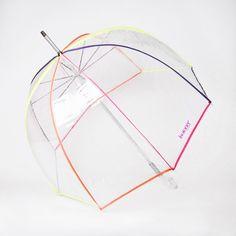 Parapluie cloche transparent Néon Isotoner