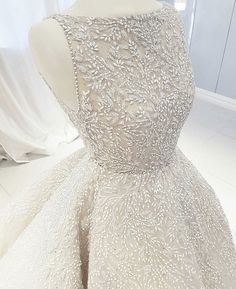 Sleeveless bridal gowns are available. This ball gown hass intricate beading all over the entire Get this remade as shown or with changes. We are a Source by darius_custom_wedding_dresses dresses fashion Custom Wedding Dress, Dream Wedding Dresses, Wedding Gowns, Wedding Lace, Princess Wedding Dresses, Ball Dresses, Ball Gowns, Prom Dresses, Evening Dresses