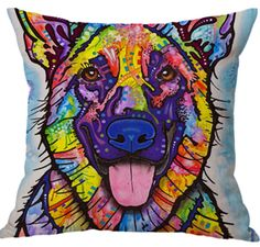 2017 New Arrival Design Pattern Pillow Cover 3D Digital Printing Animal Cushion Pillow