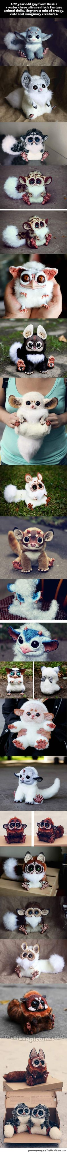 Funny pictures about Ultra-realistic fantasy animal dolls. Oh, and cool pics about Ultra-realistic fantasy animal dolls. Also, Ultra-realistic fantasy animal dolls. Fantasy Animal, Fantasy Creatures, Mythical Creatures, Fantasy Art, Fantasy Dolls, Kawaii, Creation Art, Art Dolls, Dolls Dolls
