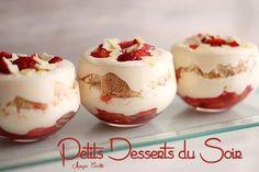 Tiramisu aux fraises en verrines - très facile à réaliser