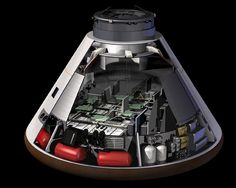 This artist's rendering represents a cut-away concept of the Orion crew exploration vehicle's crew module, from NASA's cancelled Constellation Program, Image credit: NASA